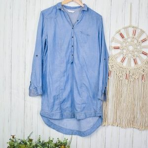 Promod Tops - Promod Chambray Tunic Top